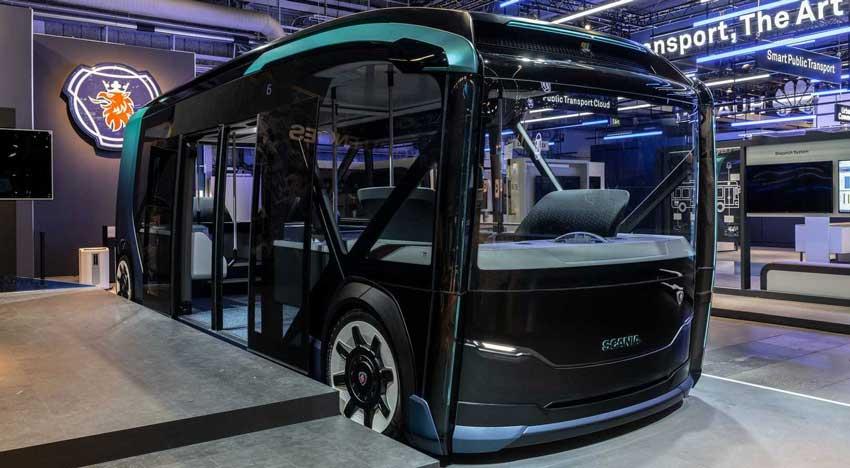 Scania NXT Otonom Elektrikli Minibüs Konsepti