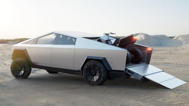 Teslanın Pick-up Modeli Cybertruck Ortaya Çıktı